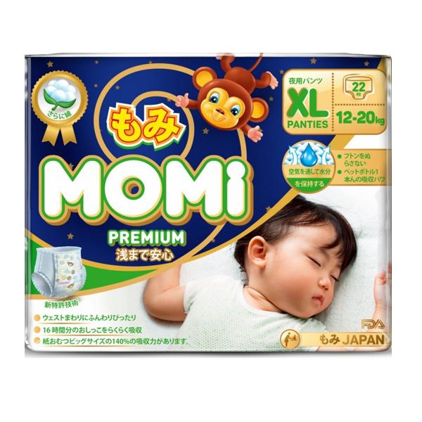 MOMI 4573726-789321 Premium Night подгузники-трусики XL ( 12-20 кг), 22 шт.