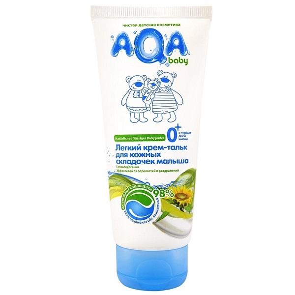 AQA baby 009501 Легкий крем-тальк для кожных складочек малыша 100 мл