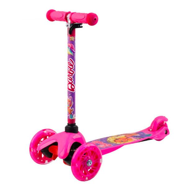 Barbie B4PV1 Самокат 3-х колесный c 3D-эффектом, розовый, размеры: 55х21,5х67см