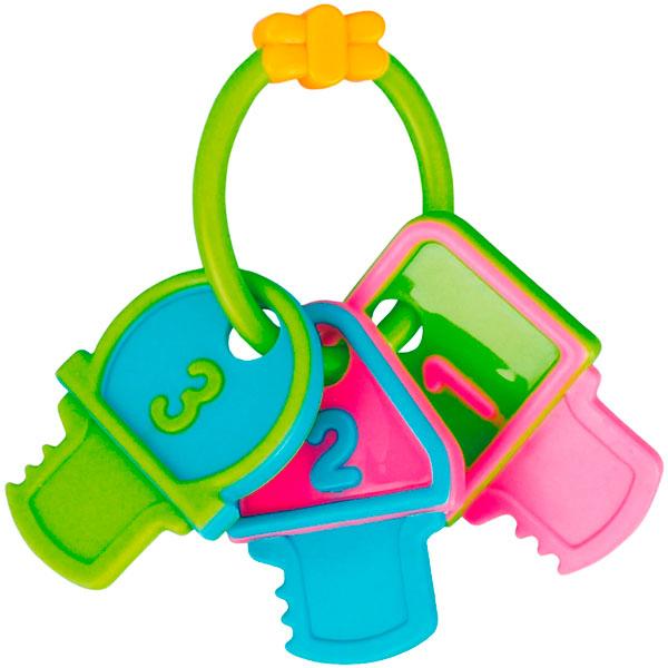 Canpol babies 250930446 Погремушка-прорезыватель ключи, зеленые символы, 0+