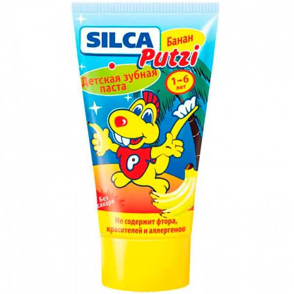 SILCA 13316/518217 Зубная паста банан (без фтора) от 1 до 6 лет, 50мл